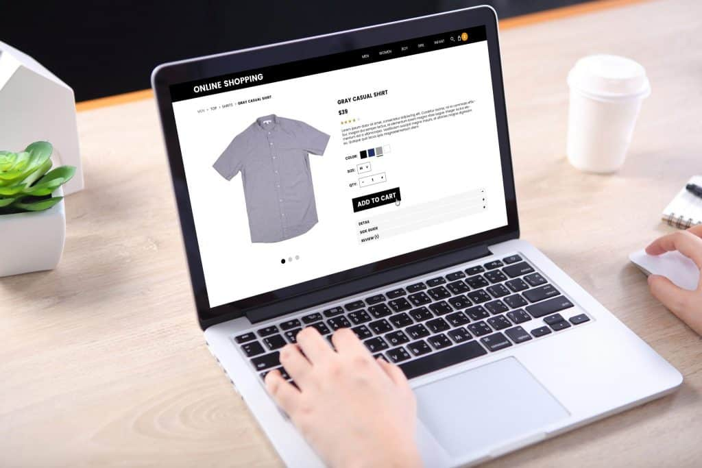 Building an eCommerce website on a laptop