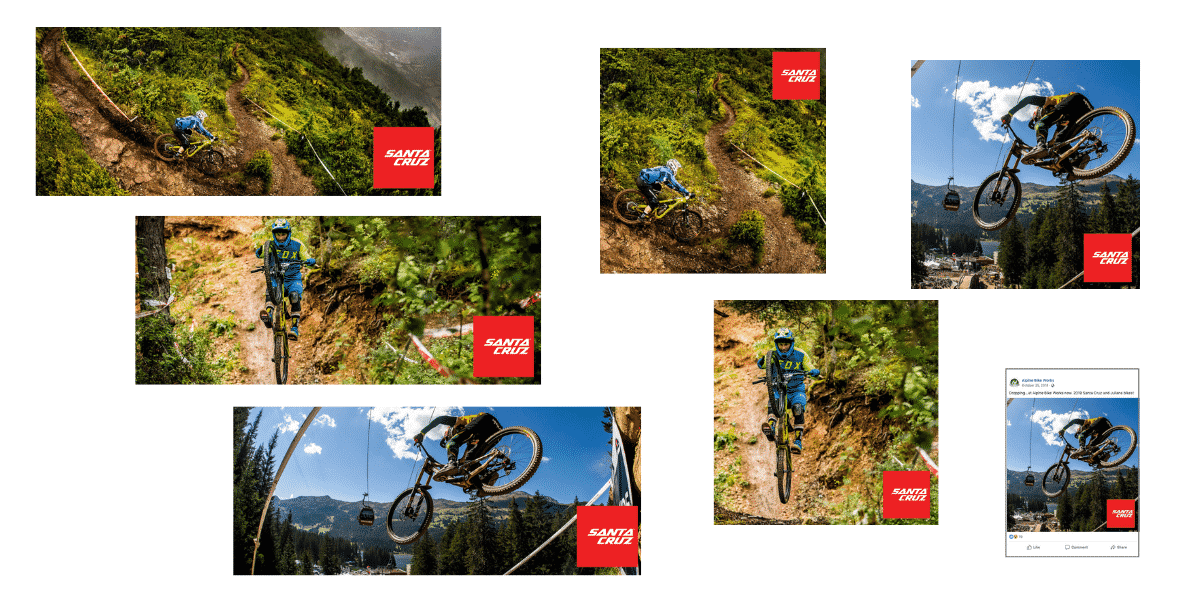 Santa Cruz Bicycles marketing assets created by Snowsports Marketing for Alpine Bike Works