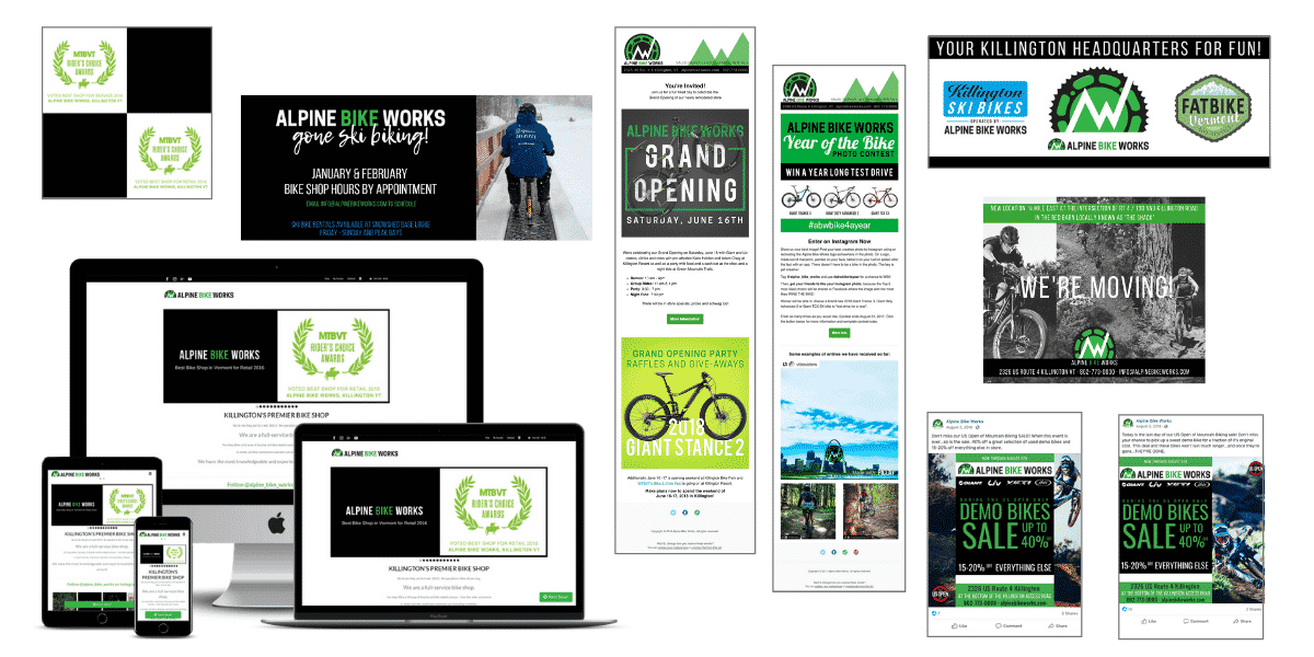 Alpine Bike Works marketing sample done by Snowsports Marketing