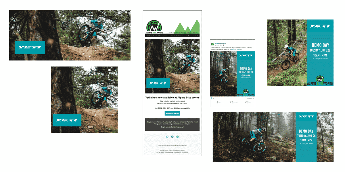 Yeti Bicycles marketing campaigns by Snowsports Marketing for Alpine Bike Works
